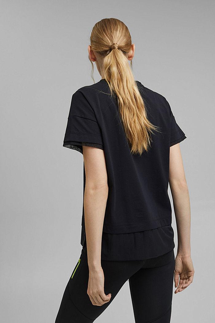 T-Shirt im Layering-Look, BLACK, detail image number 3