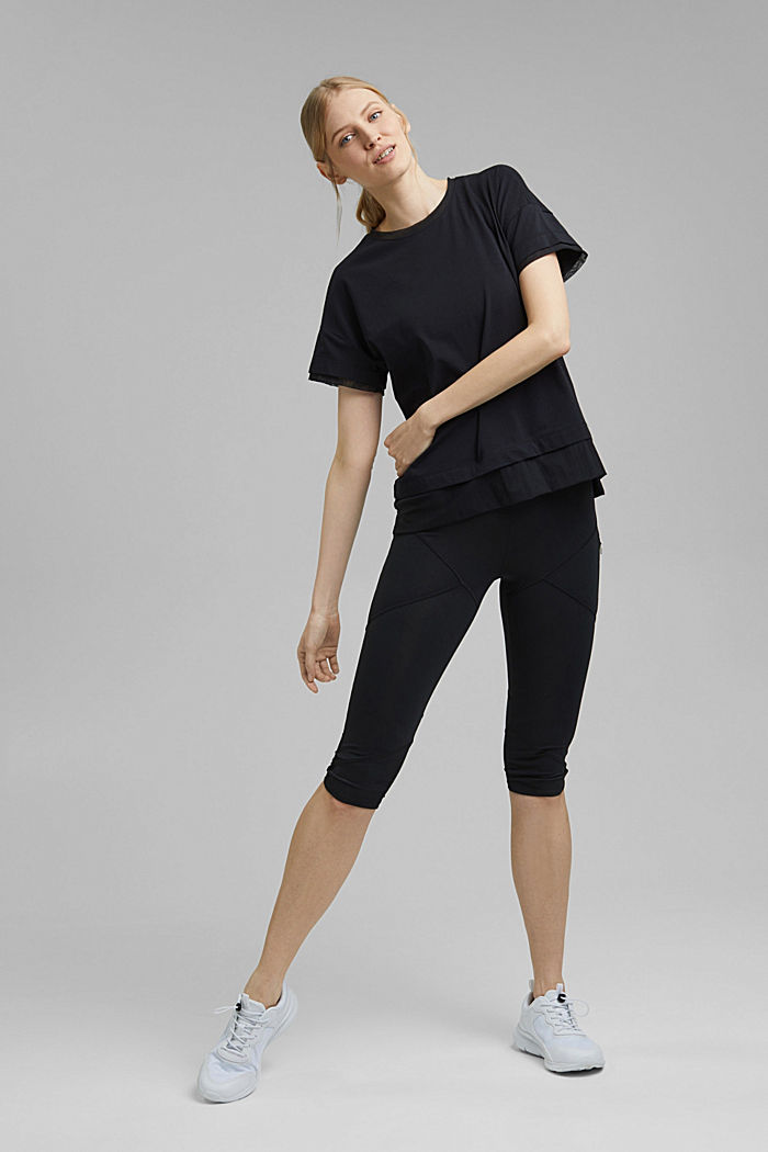T-Shirt im Layering-Look, BLACK, detail image number 1