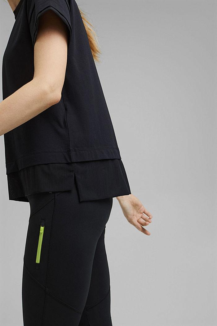 T-Shirt im Layering-Look, BLACK, detail image number 2