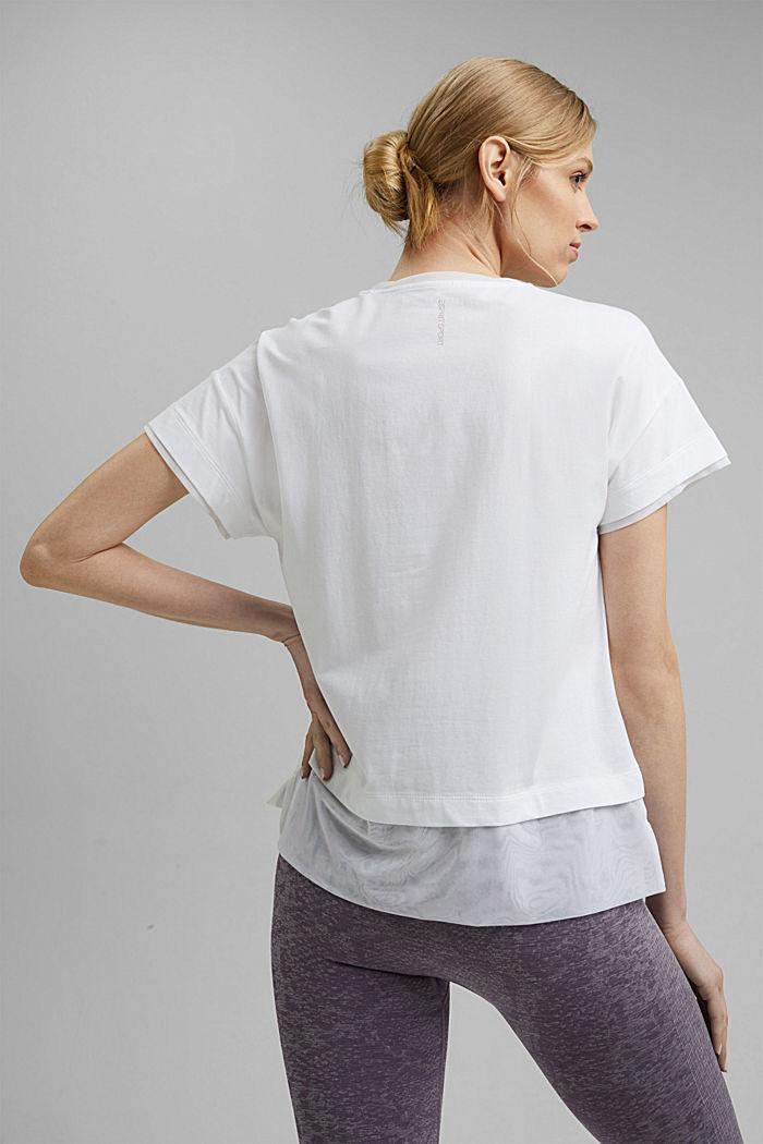 Camiseta con diseño de capas, WHITE, detail image number 3