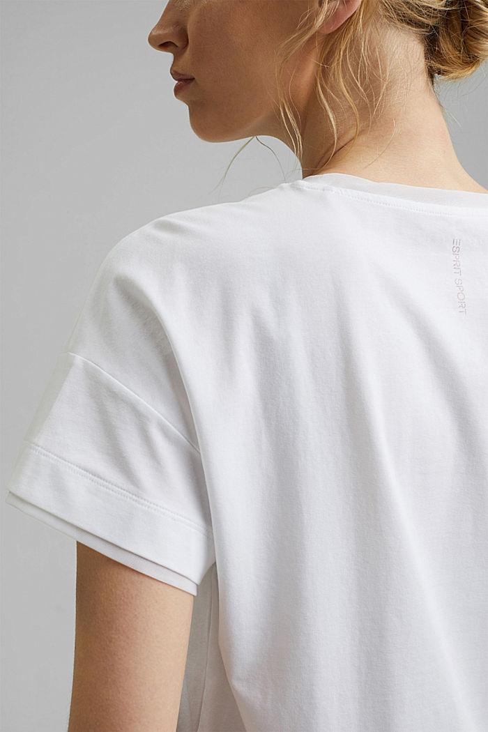 Camiseta con diseño de capas, WHITE, detail image number 2