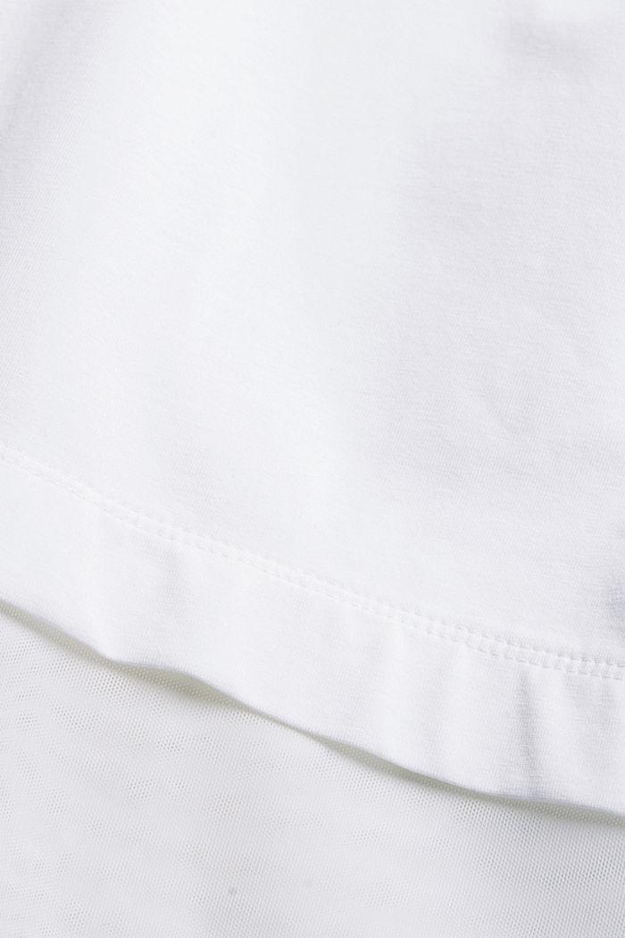Camiseta con diseño de capas, WHITE, detail image number 4