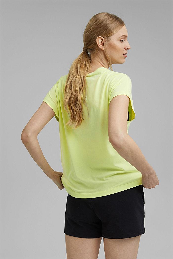 T-Shirt mit Organic Cotton, LIME YELLOW, detail image number 3