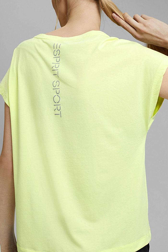 T-Shirt mit Organic Cotton, LIME YELLOW, detail image number 2