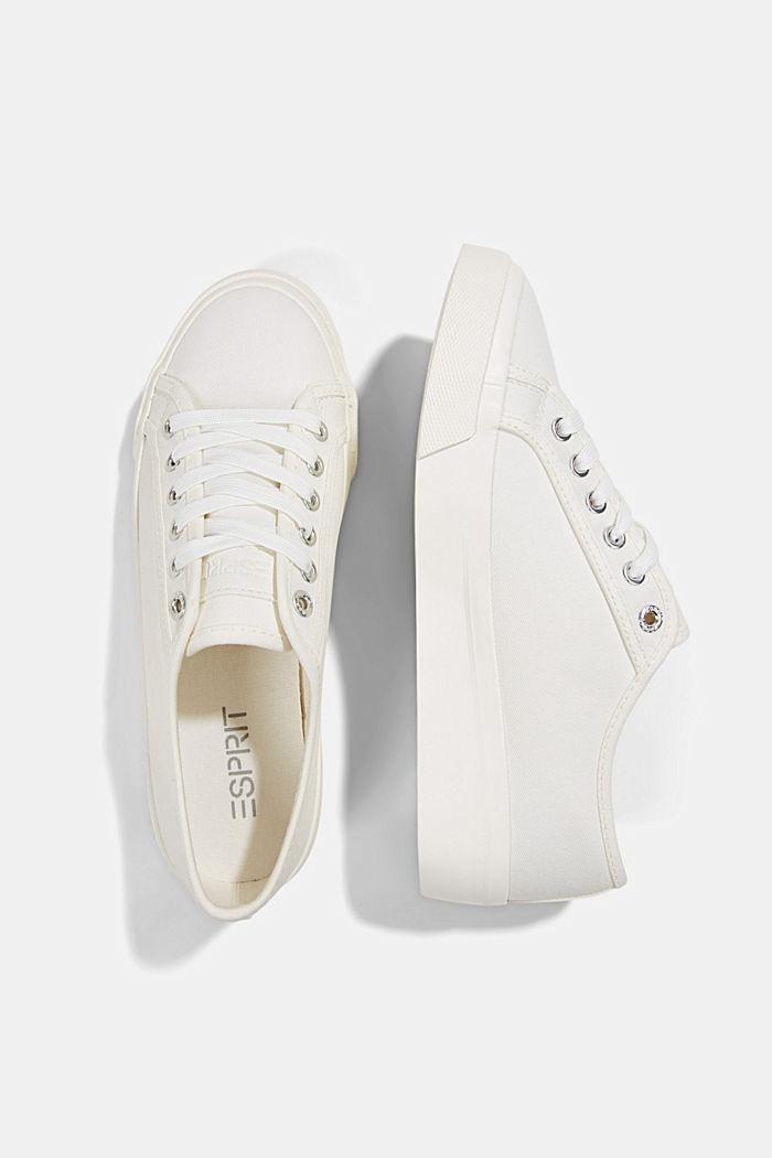 Sneakers in tela di cotone biologico, WHITE, detail image number 1