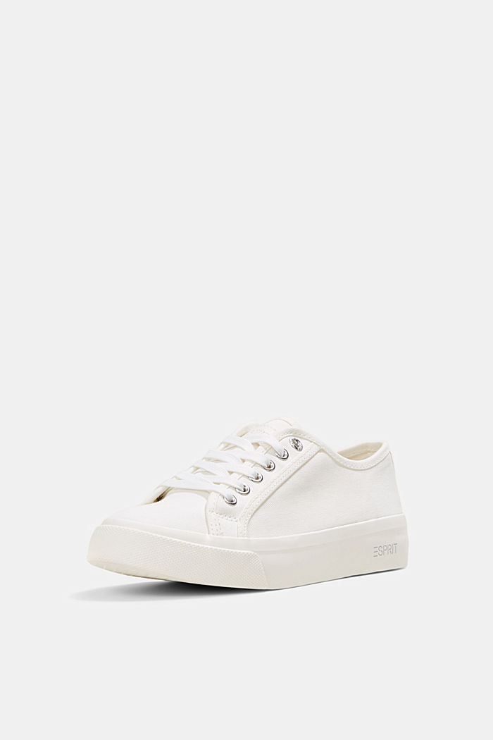 Sneakers in tela di cotone biologico, WHITE, detail image number 2