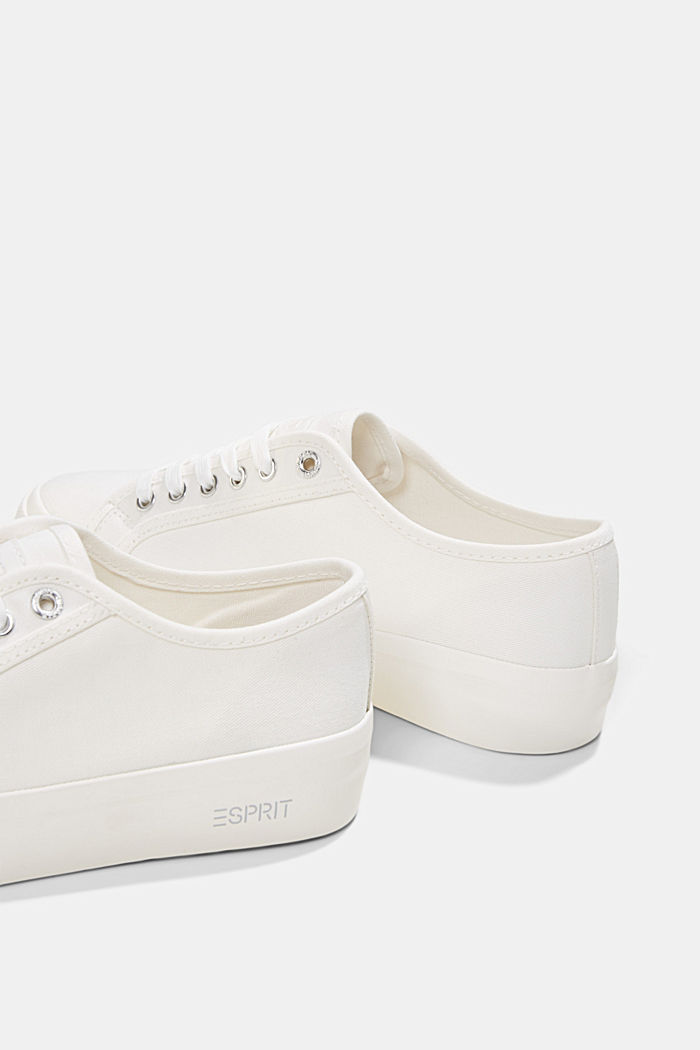 Sneakers in tela di cotone biologico, WHITE, detail image number 5
