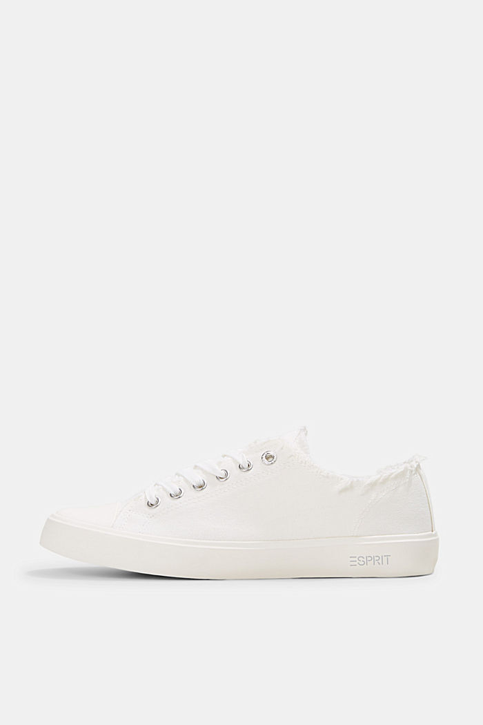 Sneakers in tela di cotone biologico, WHITE, detail image number 0