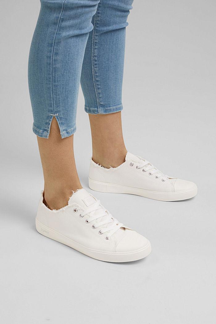 Sneakers in tela di cotone biologico, WHITE, detail image number 3