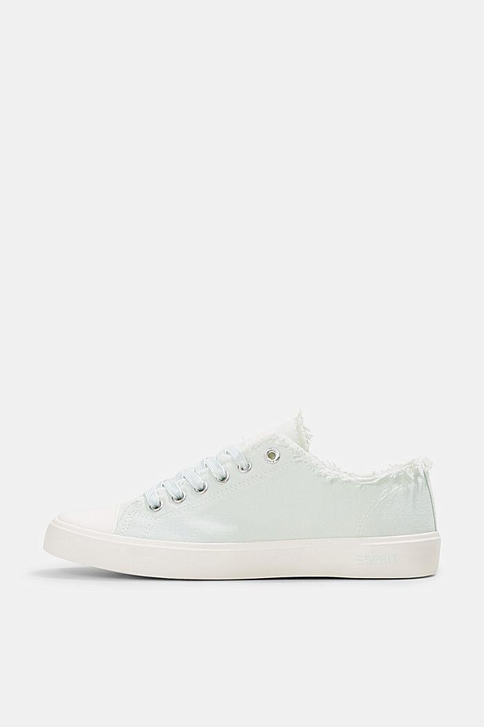 Canvas-Sneaker aus Organic Cotton, LIGHT AQUA GREEN, detail image number 0
