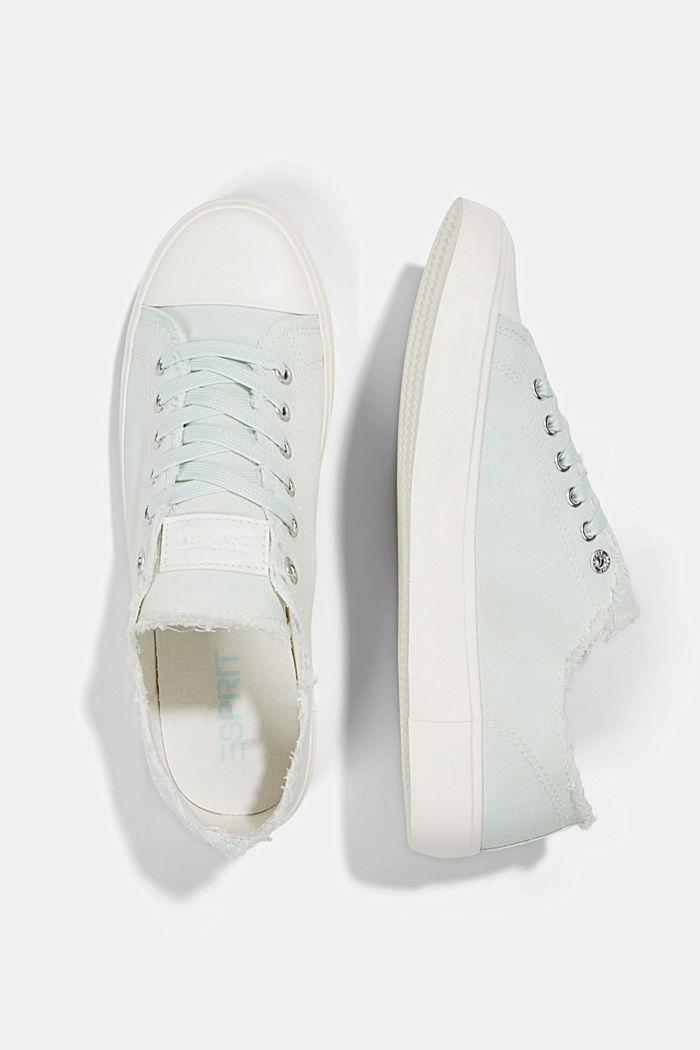 Canvas-Sneaker aus Organic Cotton, LIGHT AQUA GREEN, detail image number 1