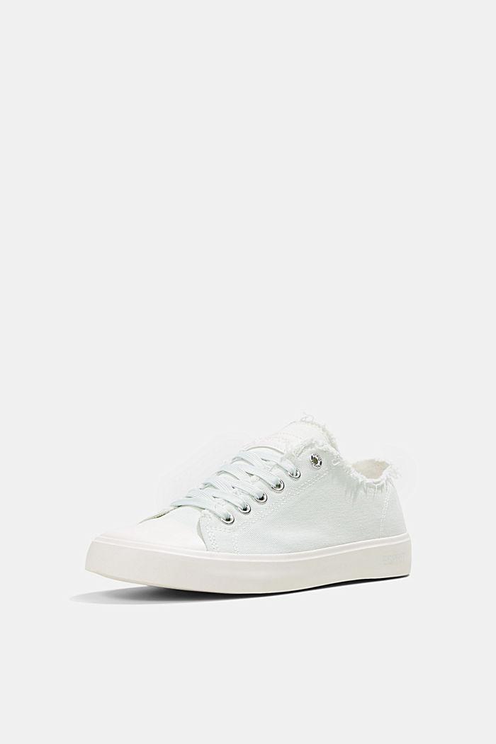 Canvas-Sneaker aus Organic Cotton, LIGHT AQUA GREEN, detail image number 2