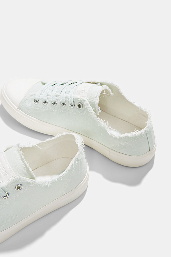 Canvas-Sneaker aus Organic Cotton, LIGHT AQUA GREEN, detail image number 5