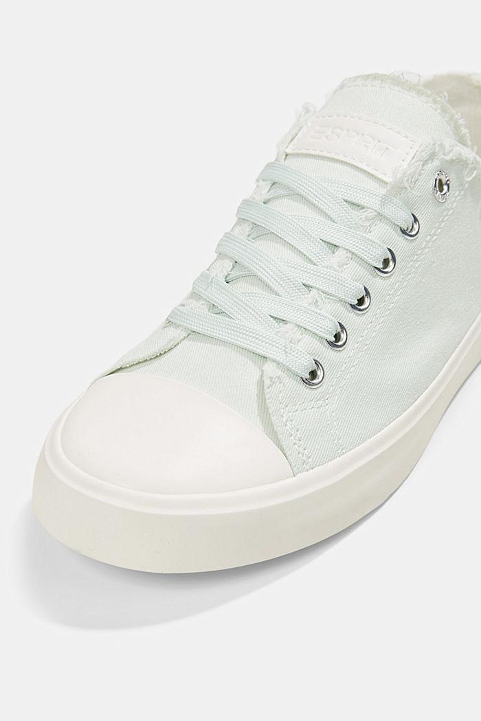Canvas-Sneaker aus Organic Cotton, LIGHT AQUA GREEN, detail image number 4