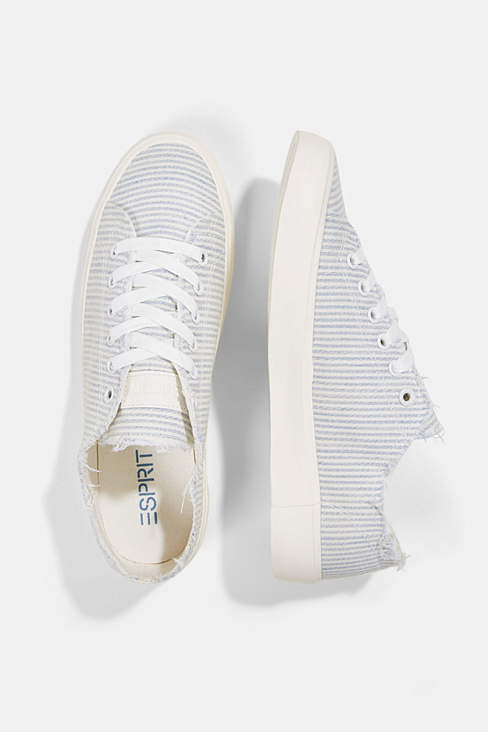 Canvas-Sneaker aus Organic Cotton, LIGHT BLUE, detail image number 1