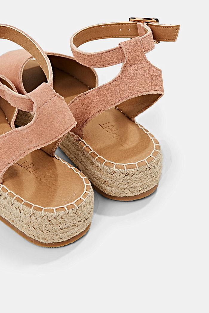 Leder-Sandale mit Bastsohle, OLD PINK, detail image number 5