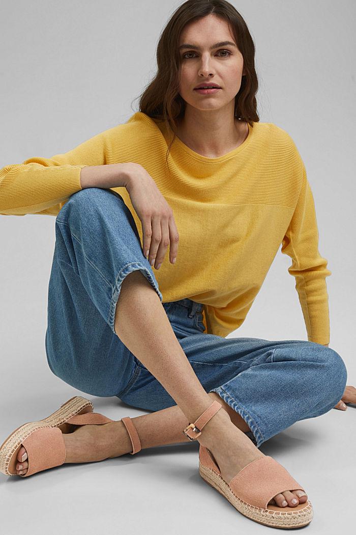 Leder-Sandale mit Bastsohle, OLD PINK, detail image number 6