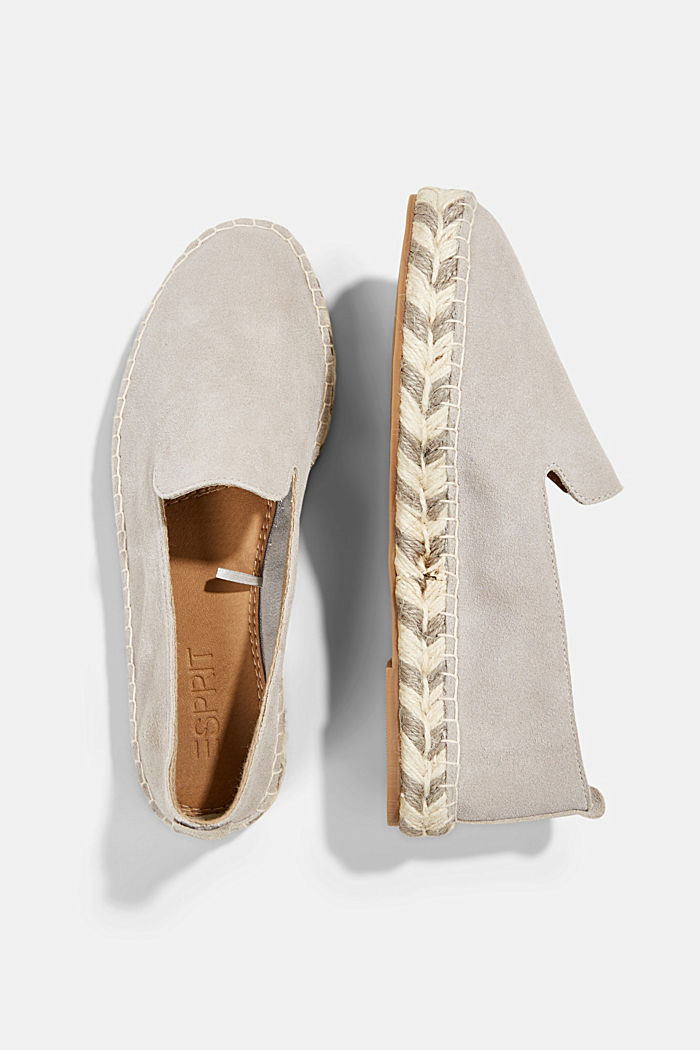 Espadrillas in pelle scamosciata, LIGHT GREY, detail image number 1