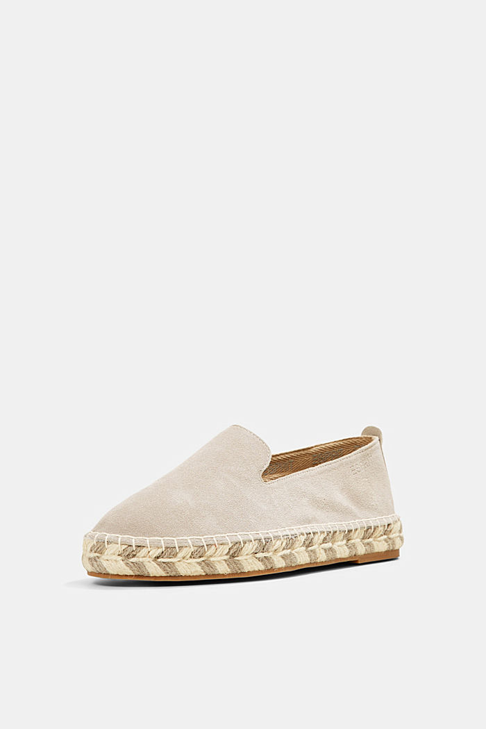 Espadrillas in pelle scamosciata, LIGHT GREY, detail image number 2