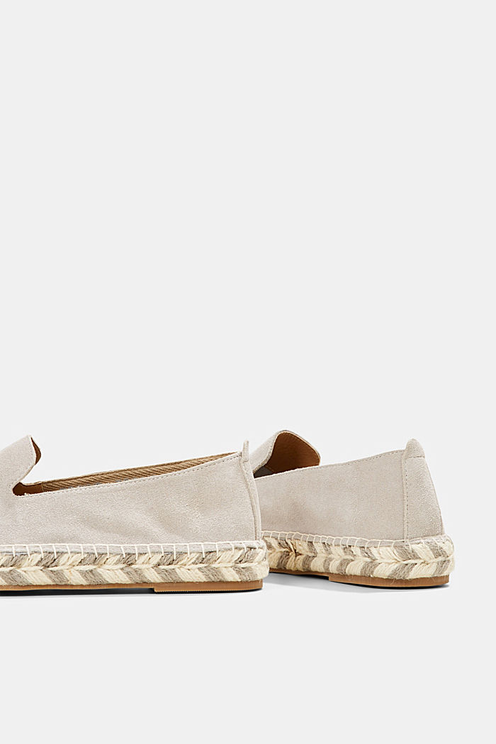 Espadrillas in pelle scamosciata, LIGHT GREY, detail image number 5