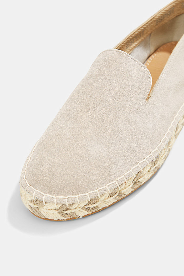 Espadrillas in pelle scamosciata, LIGHT GREY, detail image number 4