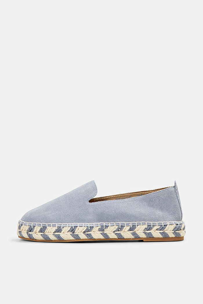 Espadrillas in pelle scamosciata, GREY BLUE, detail image number 0