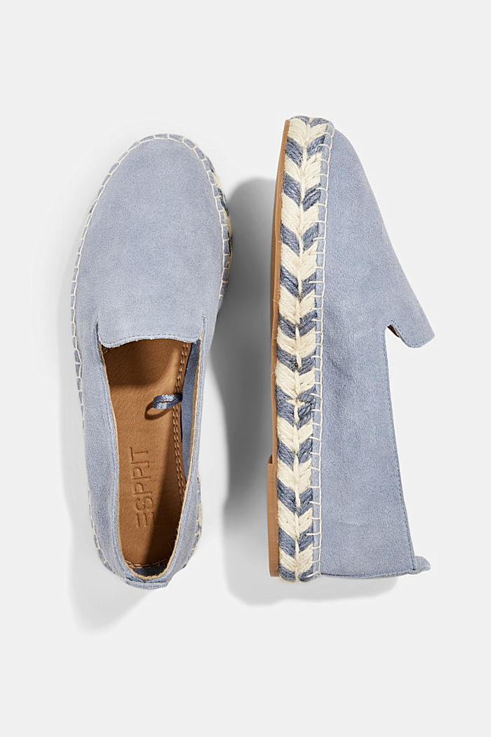 Espadrillas in pelle scamosciata, GREY BLUE, detail image number 1