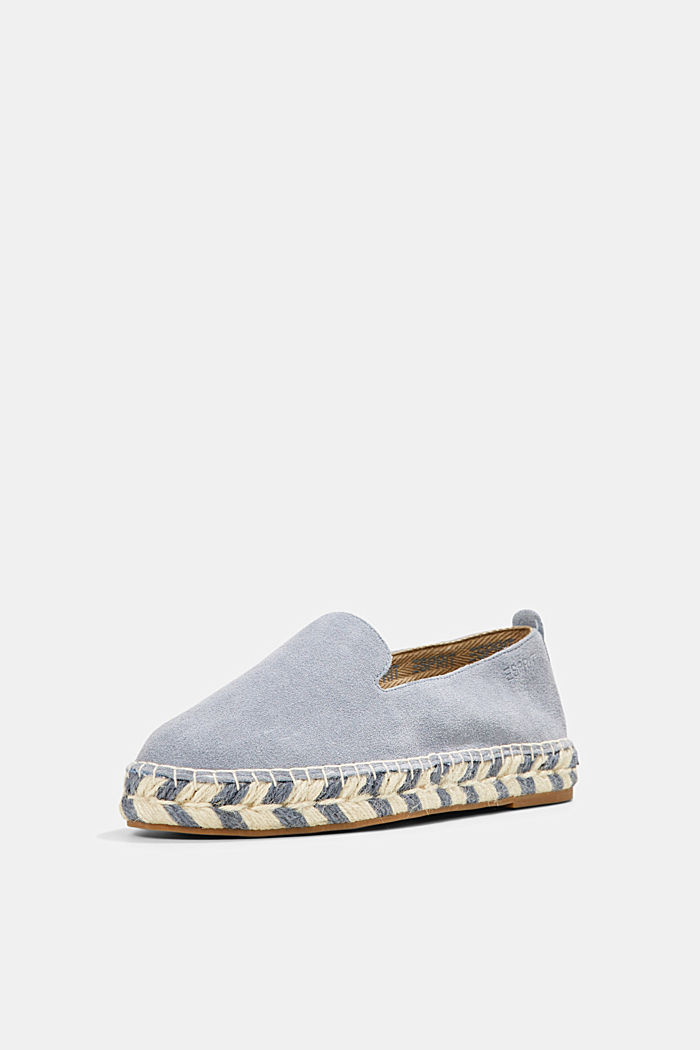 Espadrillas in pelle scamosciata, GREY BLUE, detail image number 2