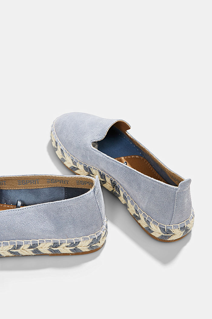 Espadrillas in pelle scamosciata, GREY BLUE, detail image number 5