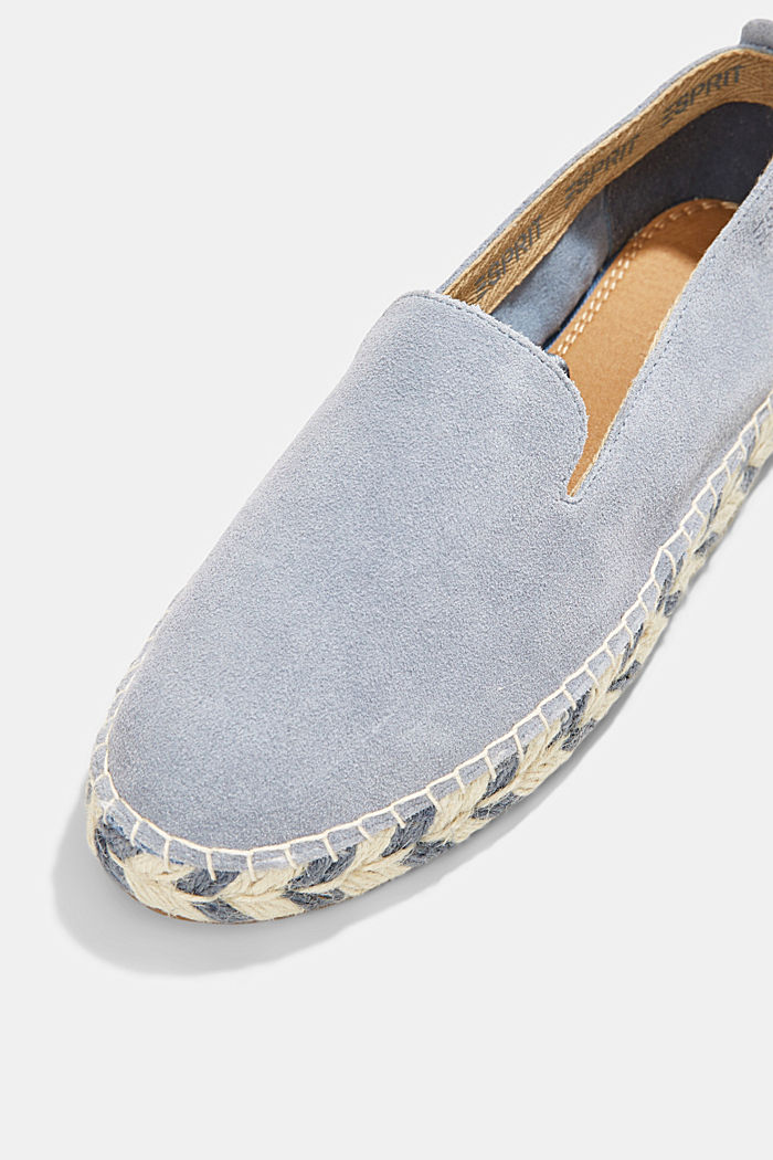 Espadrillas in pelle scamosciata, GREY BLUE, detail image number 4