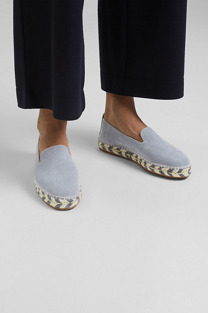 Espadrillas in pelle scamosciata, GREY BLUE, detail image number 3