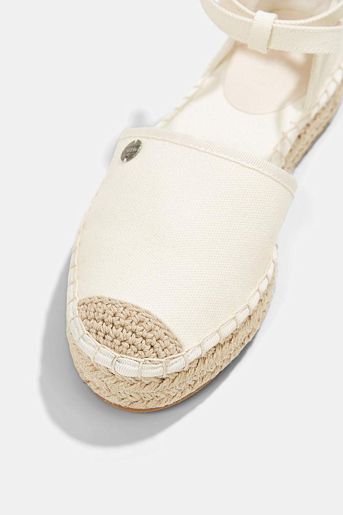 Espadrilles en coton à petite bride, OFF WHITE, detail image number 4