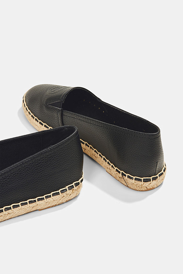 Faux leather espadrilles, BLACK, detail image number 5