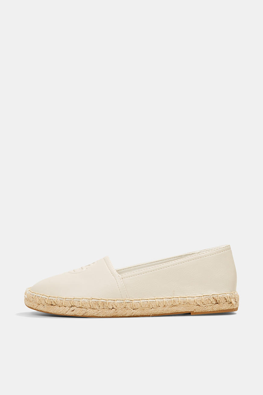 Faux leather espadrilles
