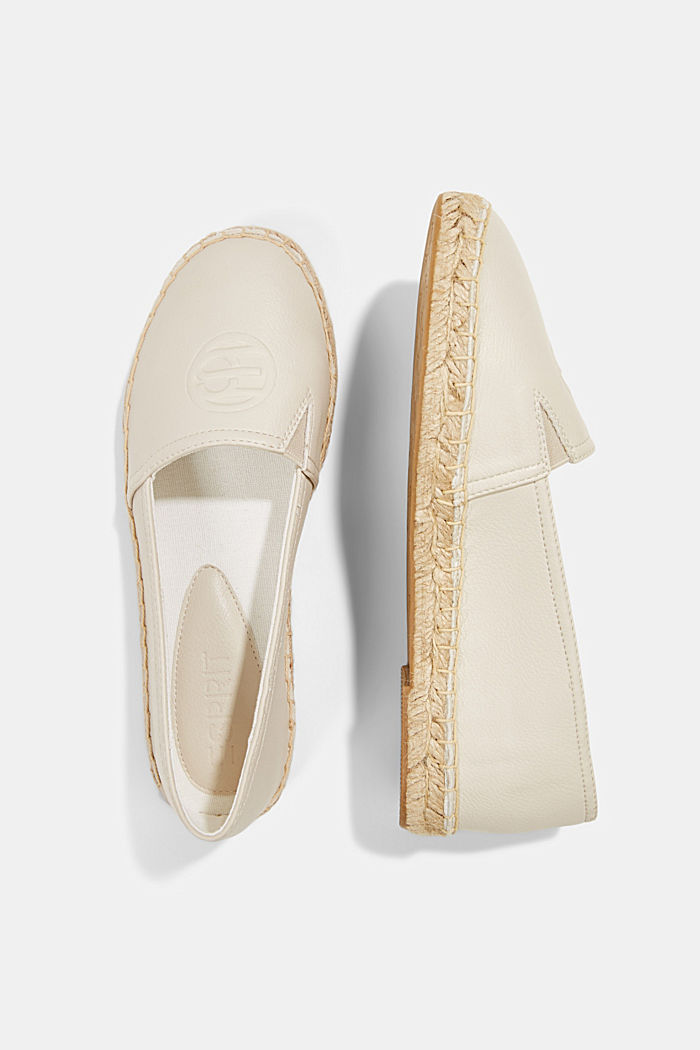 Faux leather espadrilles, WHITE, detail image number 1
