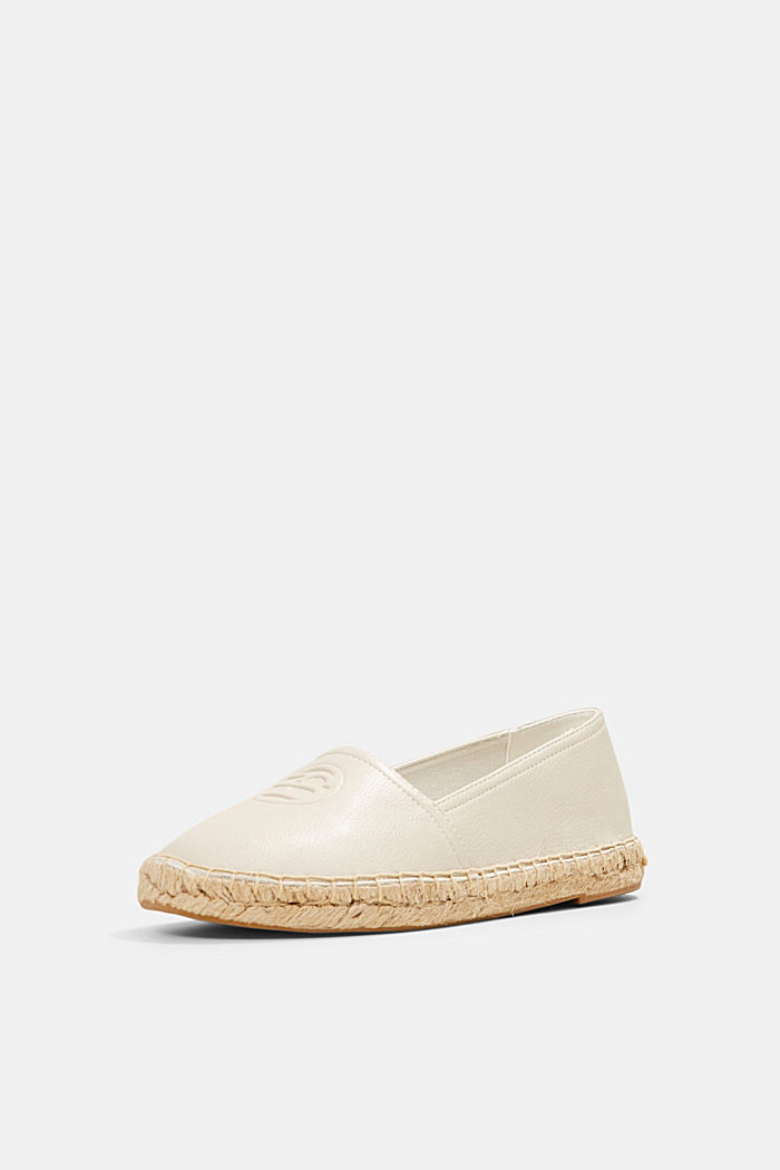 Faux leather espadrilles, WHITE, detail image number 2