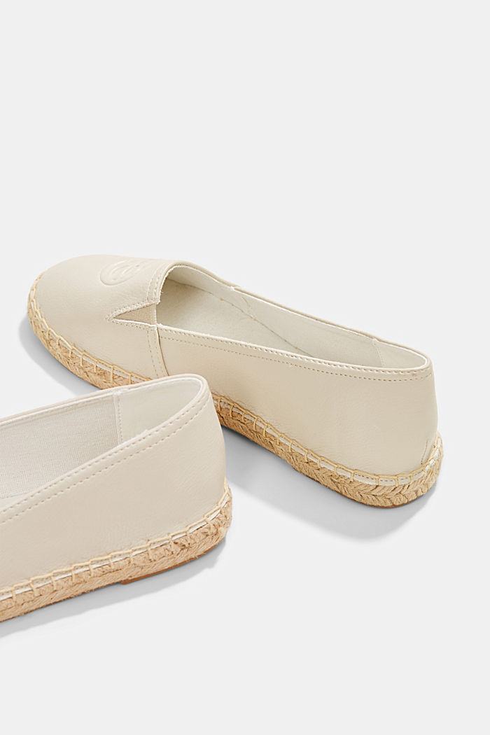 Faux leather espadrilles, WHITE, detail image number 5