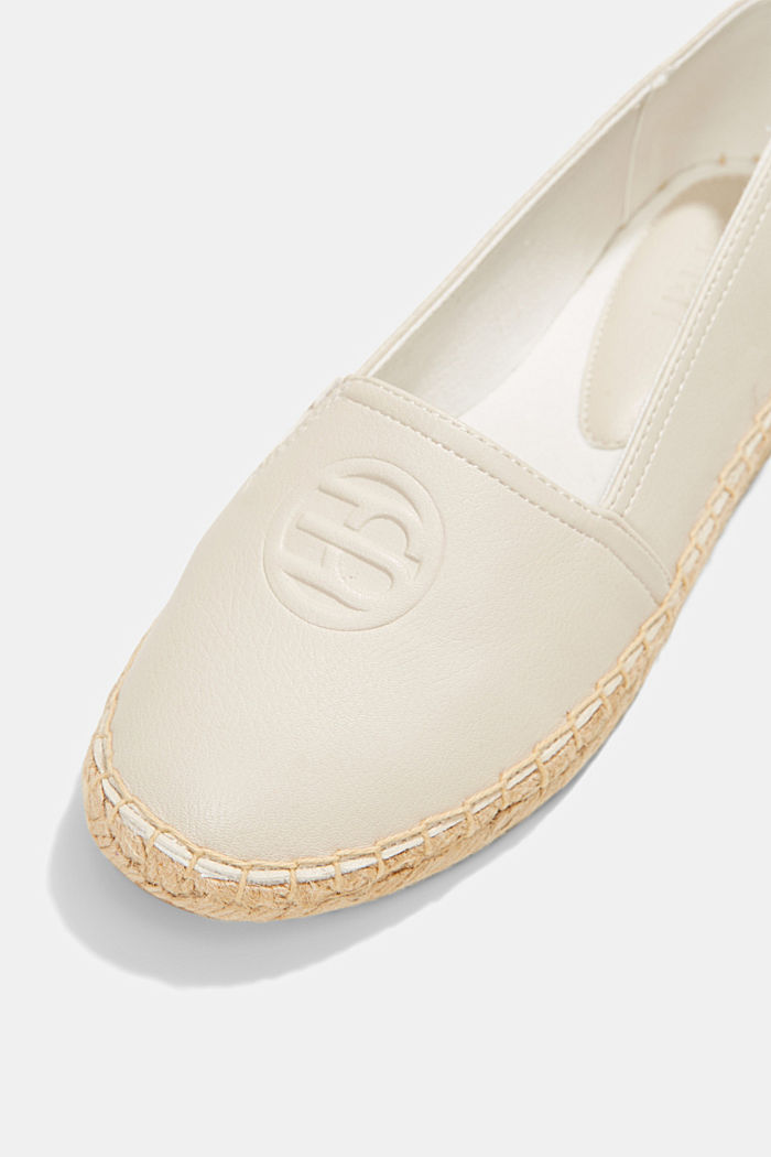 Faux leather espadrilles, WHITE, detail image number 4