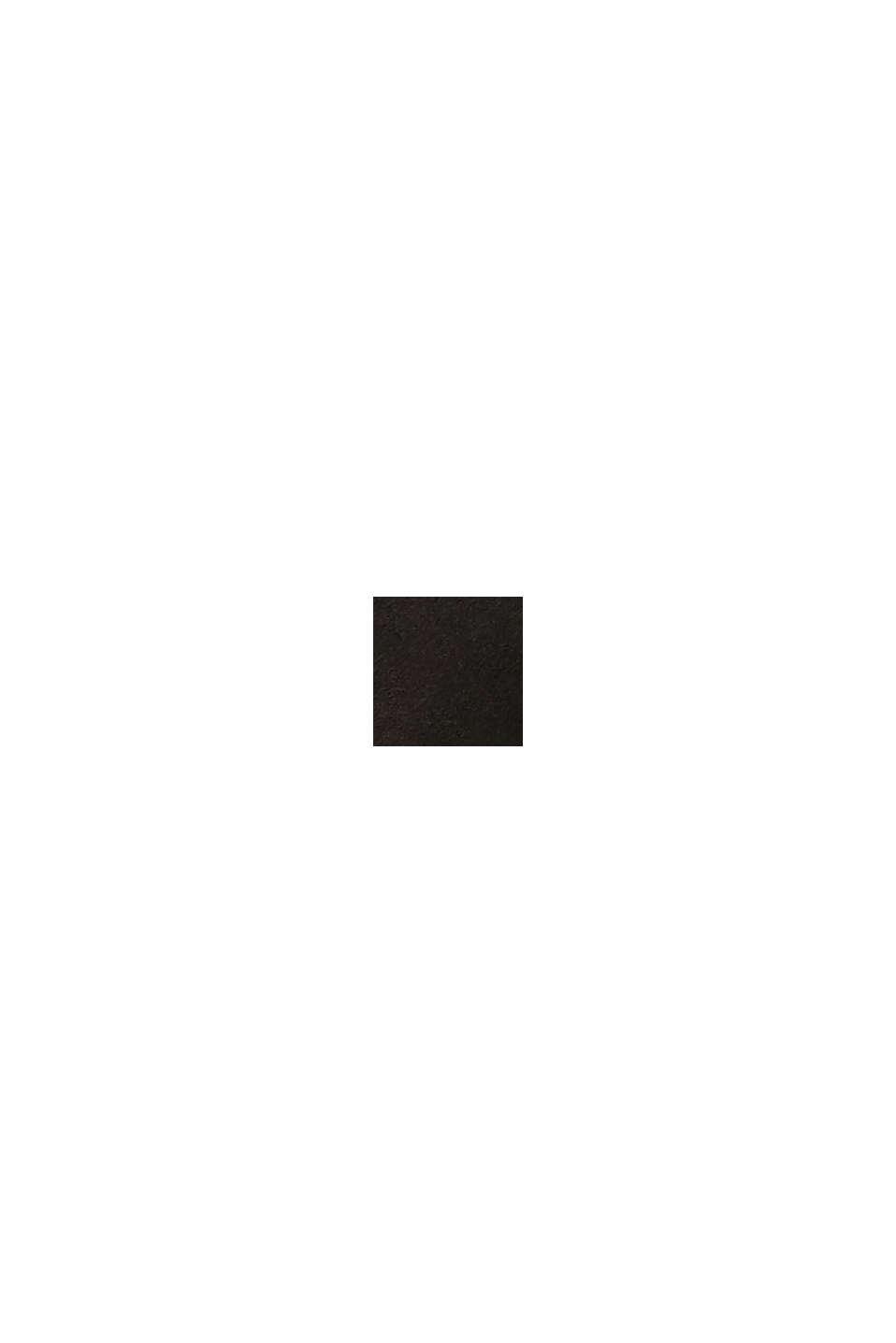 Sandales à entredoigts ornées de similicuir et d'un motif monogramme, BLACK, swatch