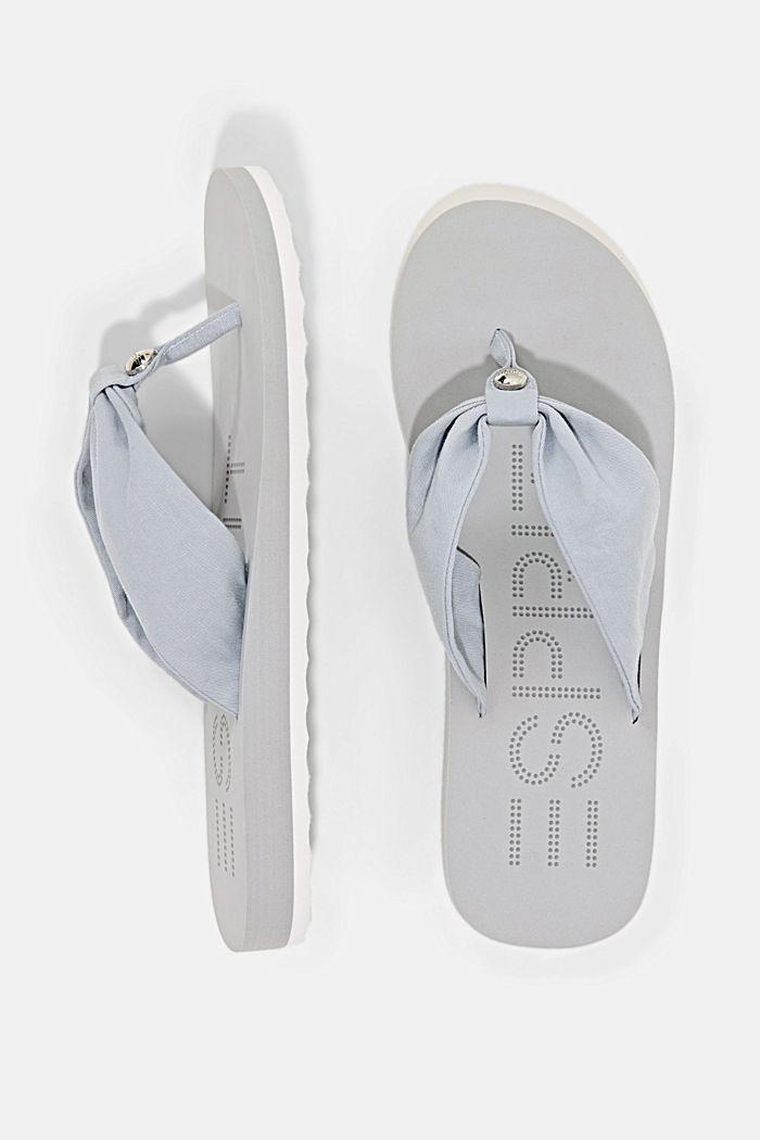 Infradito con cinturino in stoffa, LIGHT GREY, detail image number 1