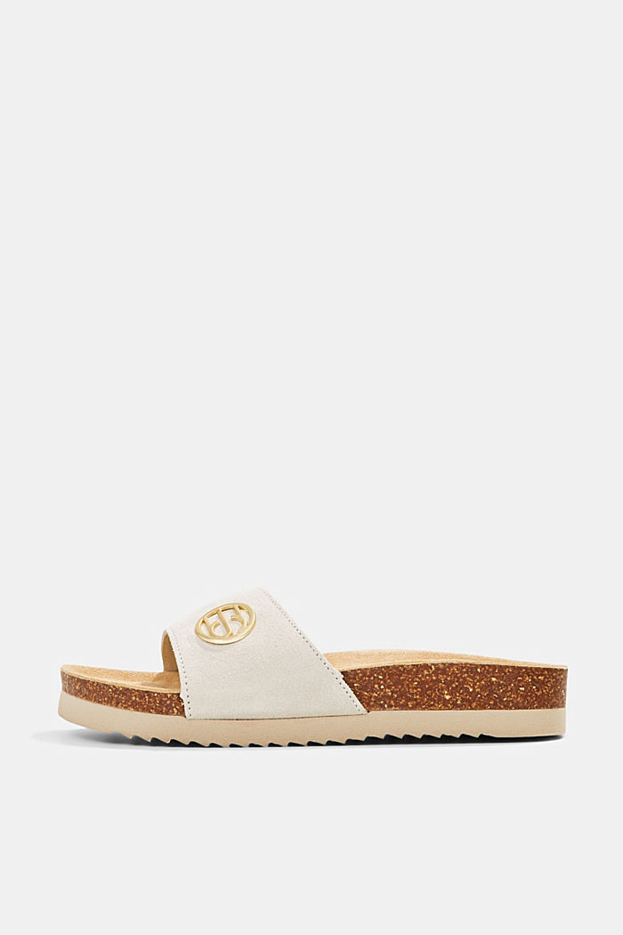 Leather: Monogram slip-ons