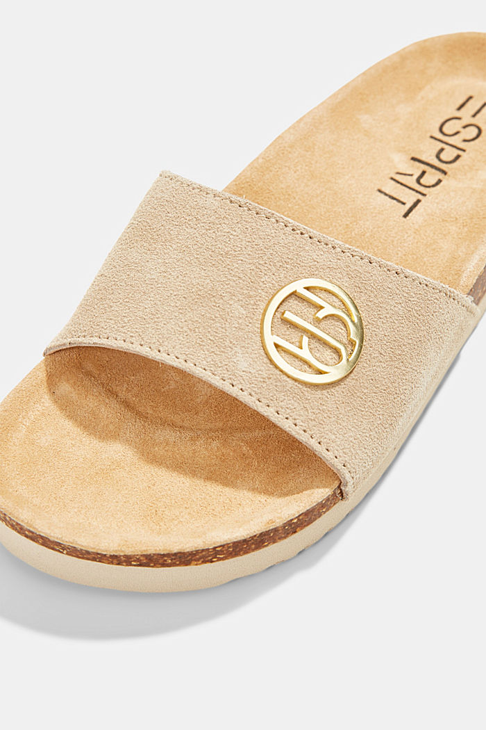 Leather: Monogram slip-ons, LIGHT BEIGE, detail image number 4