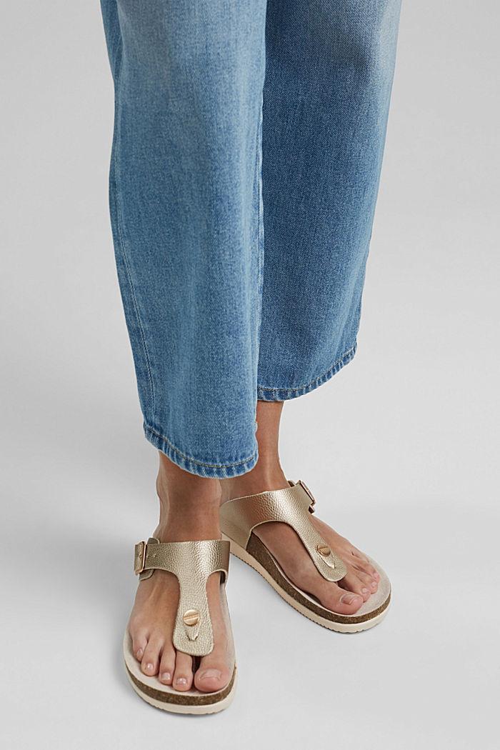 Pantoflíčky s metalickým vzhledem