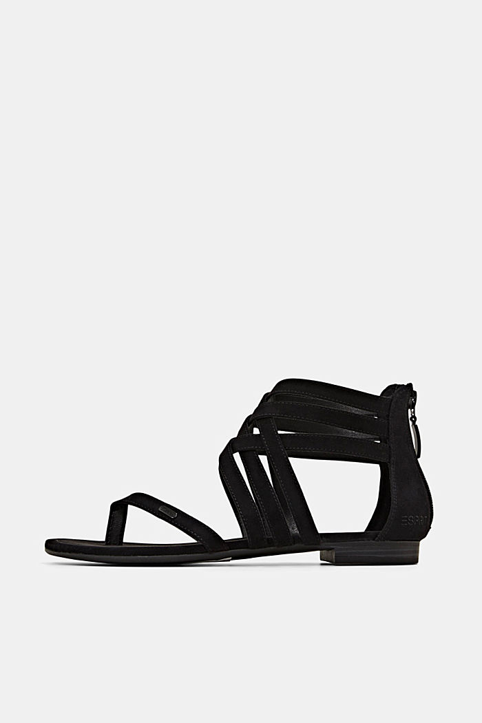 Strappy sandals made of faux suede