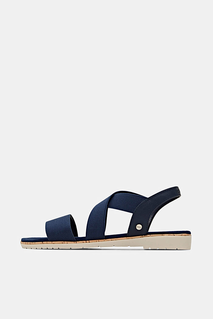 Sandals with stretchy straps