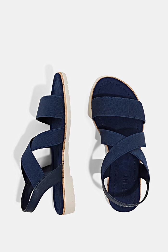 Sandales à brides élastiques, DARK BLUE, detail image number 1