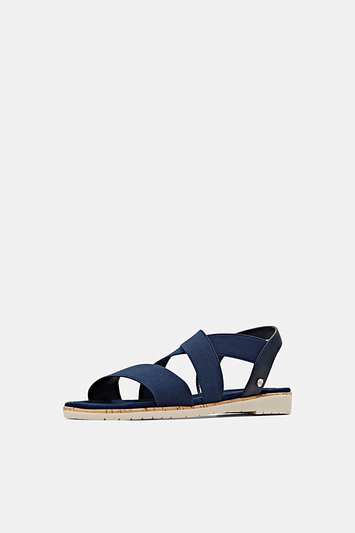Sandali con cinturino elastico, DARK BLUE, detail image number 2