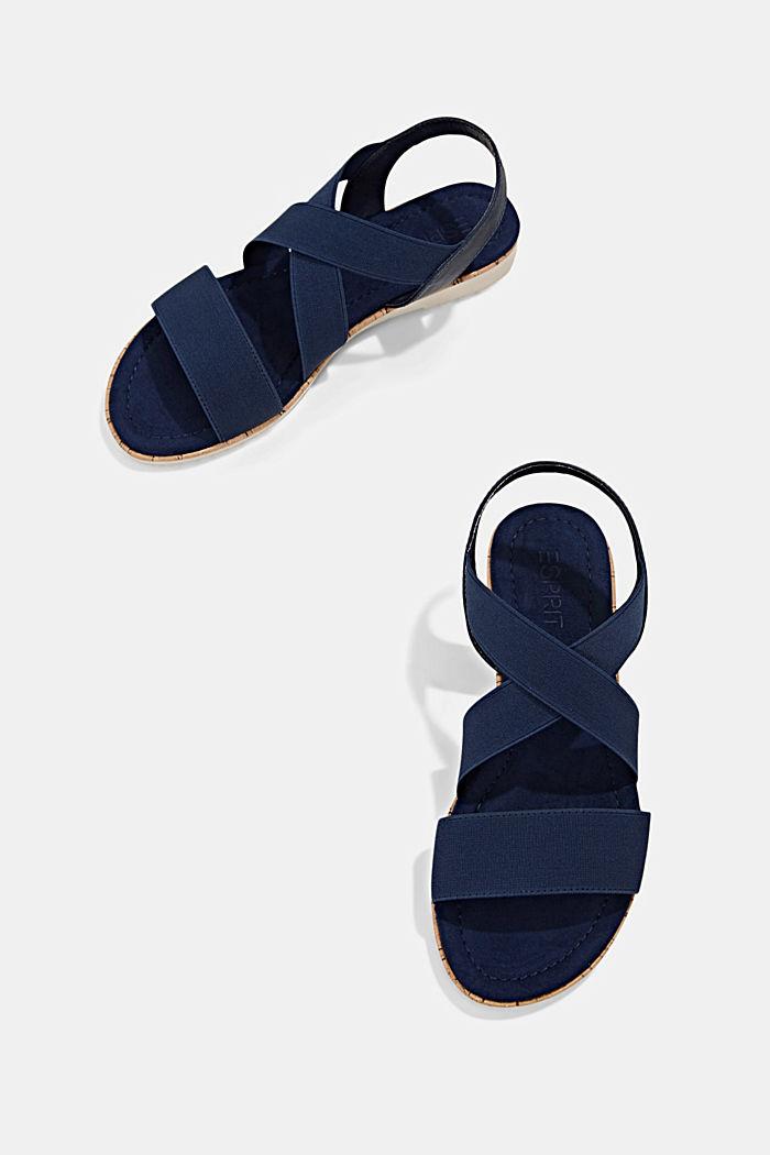 Sandales à brides élastiques, DARK BLUE, detail image number 5