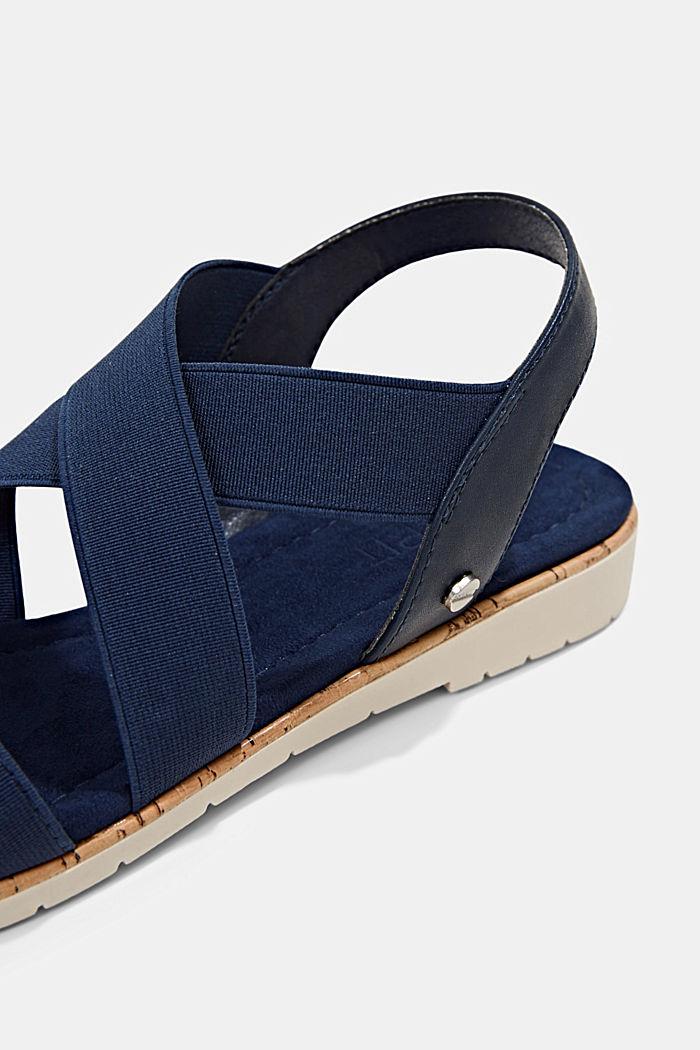 Sandales à brides élastiques, DARK BLUE, detail image number 4