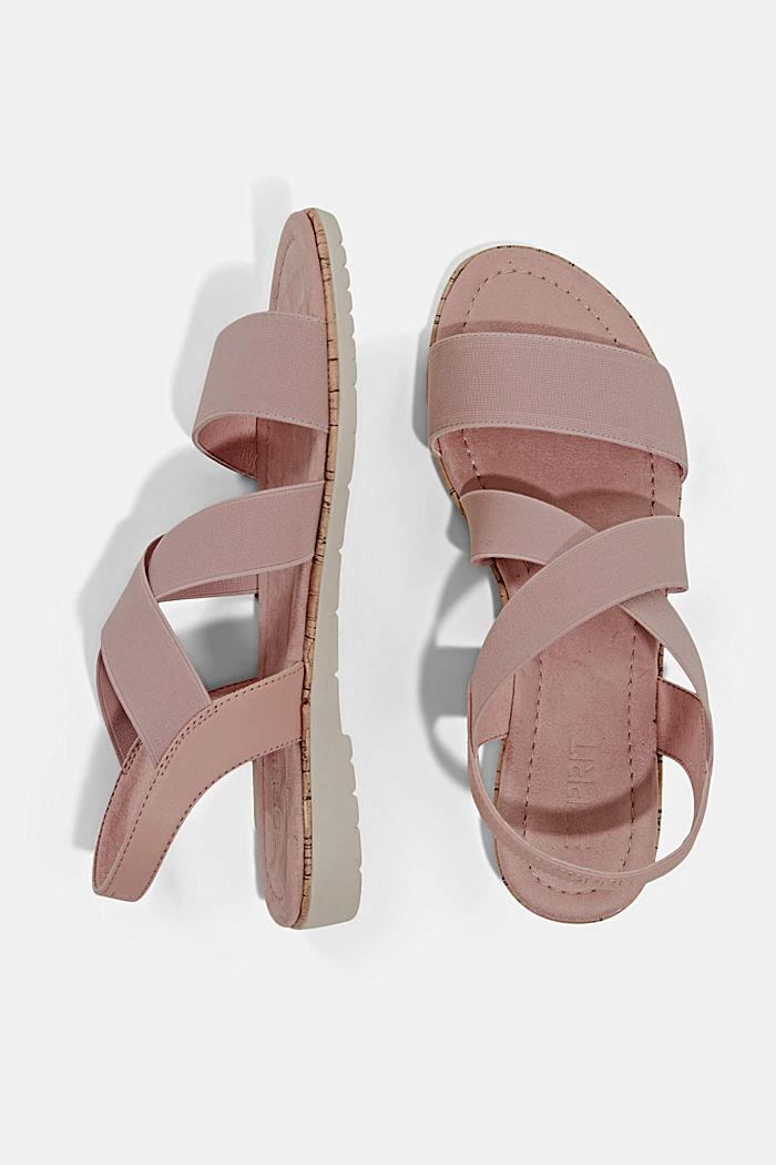 Sandalen mit elastischen Riemen, NUDE, detail image number 1